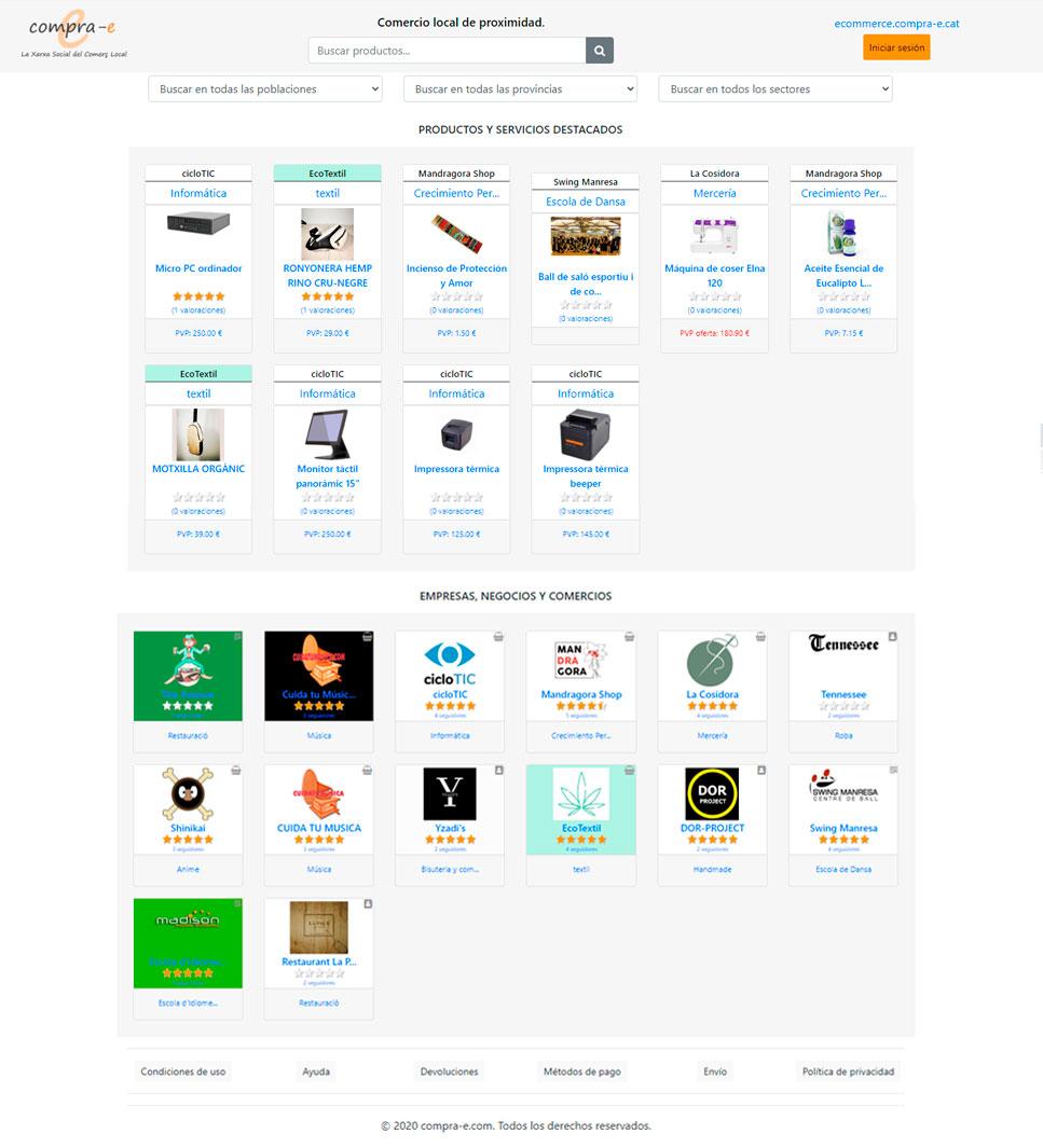 Tienda online comercio local de proximidad